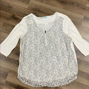 Floral lace dress blouse